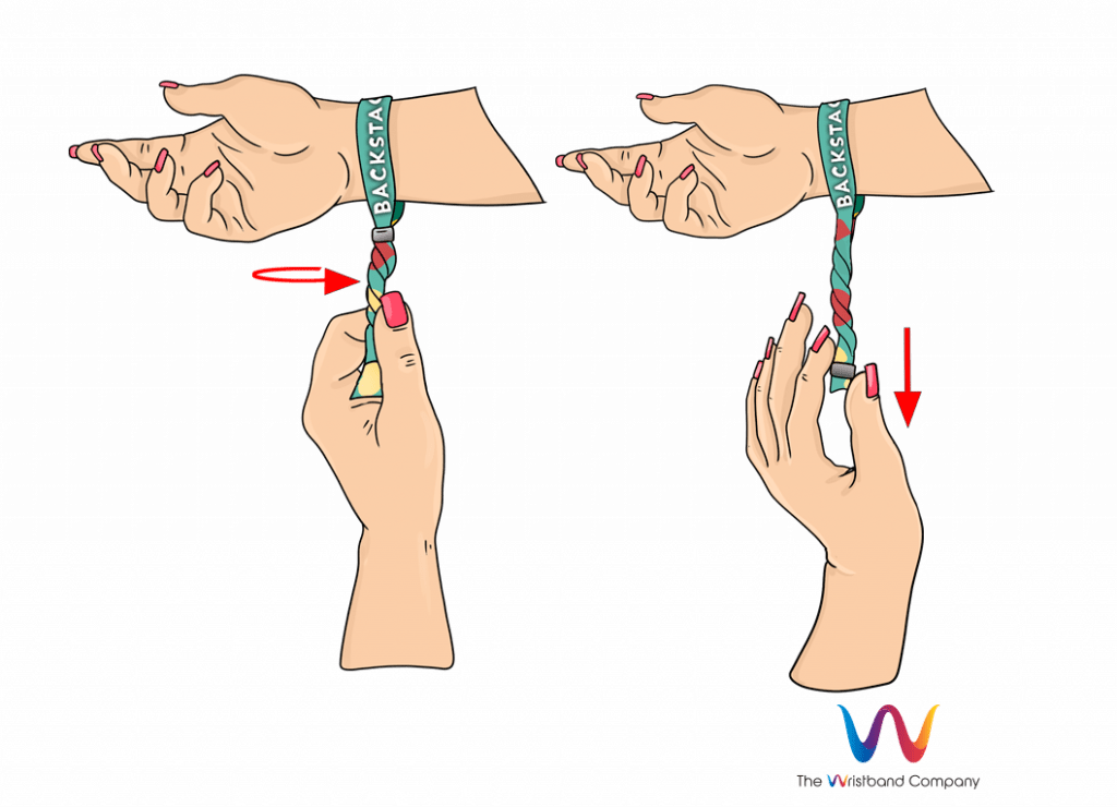 How to remove festival wristband